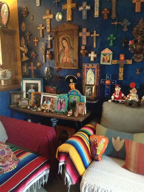 holy amazing alter cross blue wall  living room