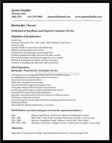 Waitress Resume Skills Examples Gallery For Gt Waitress Resume No Experience