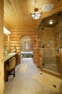 log cabin bath homes
