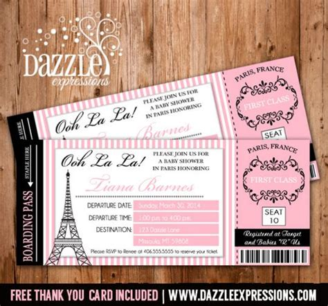 Boarding Pass Baby Shower Invitations by Printable Boarding Pass Baby Shower Invitation