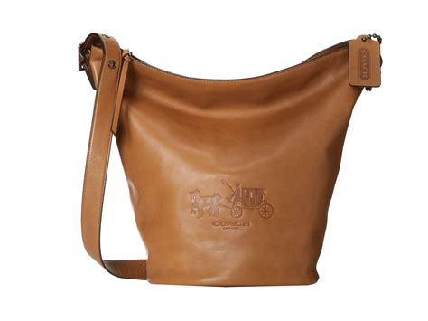 Coach Bleeker Leather Large Duffle by Coach Bleecker Leather Logo Duffle Shipped Free At Zappos