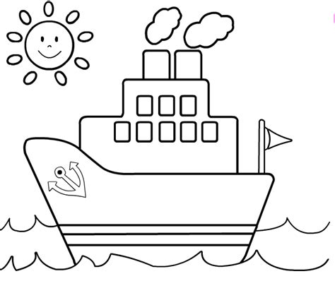 Free Coloring Pages Of Ship Ships Coloring Pages