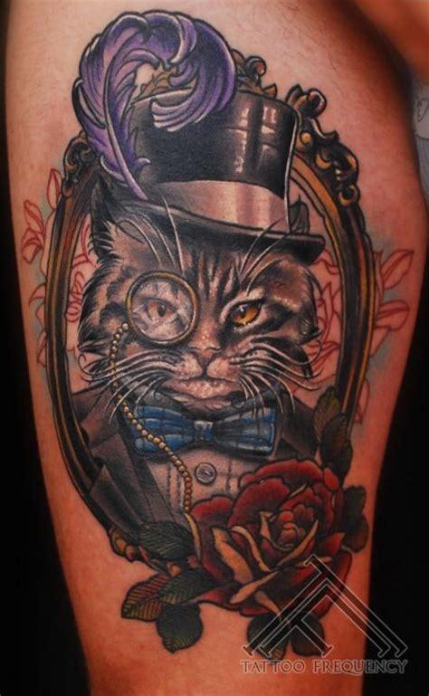 cat tattoo top hat pinterest the world s catalog of ideas