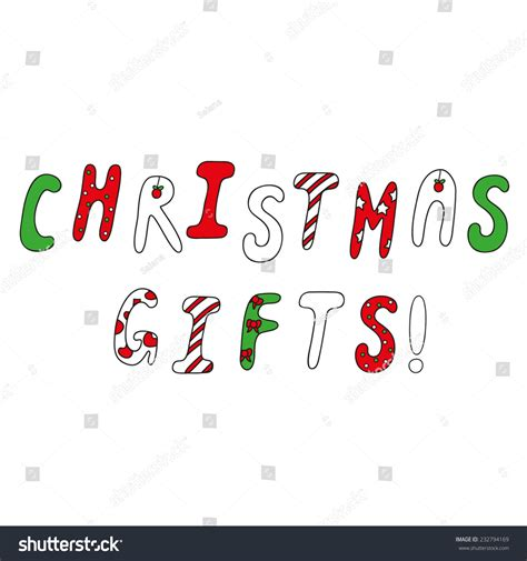 christmas advertising slogans advertising slogan gifts special alphabet stock vector illustration