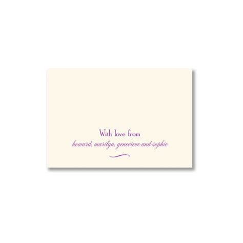 Embossed Gift Enclosure Cards - ecru two line gift enclosure cards with envelopes paperstyle