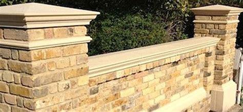garden wall coping stones cast exterior detailing copings cappings columns