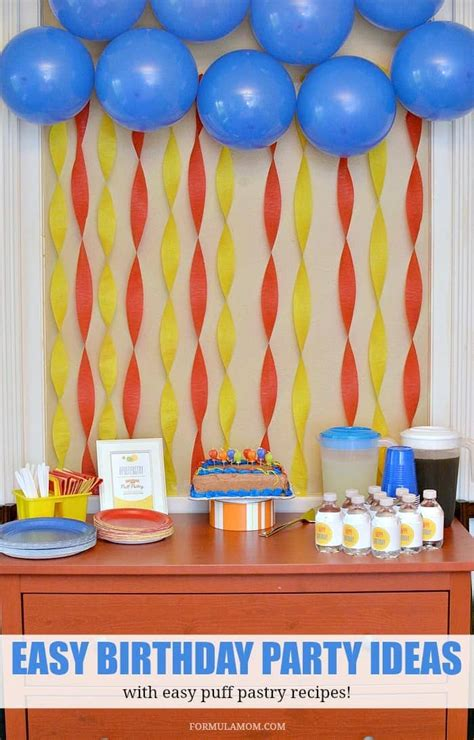 simple net for party decoration puff pastry ideas for birthdays puffpastry ad