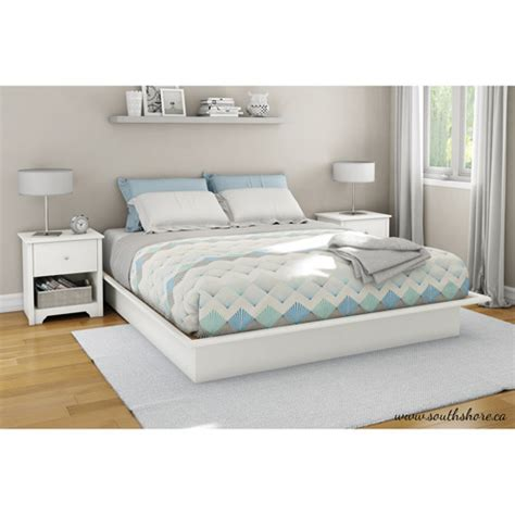 south shore soho bedroom set south shore soho king platform bed with molding pure white walmart com