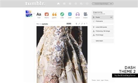 themes for dashboard on tumblr dashboard theme on tumblr