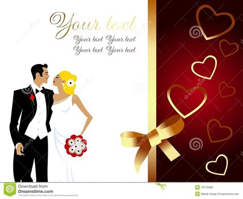 greetings to beautiful wedding greeting card stock photo image