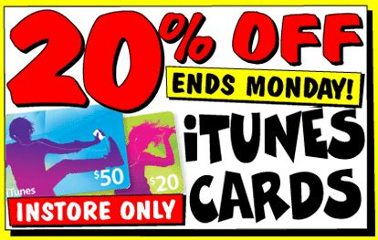 Jb Hifi Gift Card Discount - expired 20 off itunes gift cards in store only at jb hifi until monday gift cards