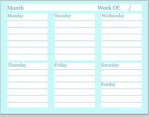household printables meal planning to do list and more