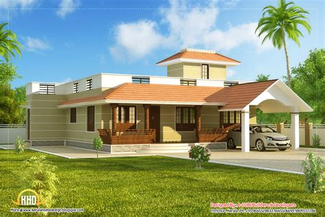 one storey house beautiful single story kerala model house 1395 sq ft