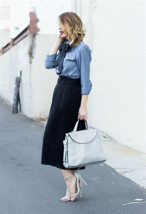 Impor Layer Bow Black White Mini Midi Skirt Flare Rok Sepan Span Hitam how to wear a black skirt 2018 fashiontasty
