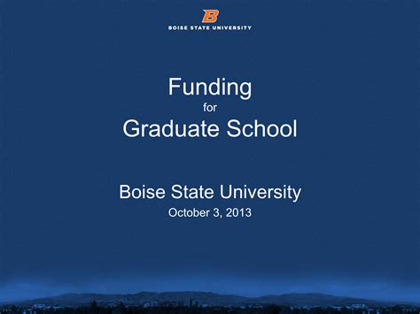 Grants For Mba Education by Funding Graduate School Powerpoint Presentation Ppt