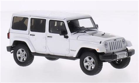 diecast jeep jeep wrangler unlimited white 2011 greenlight diecast