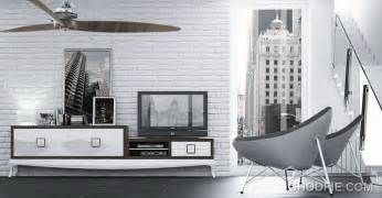 White Brick Wall Living Room by White Brick Wall Living Room With Modern Furniture