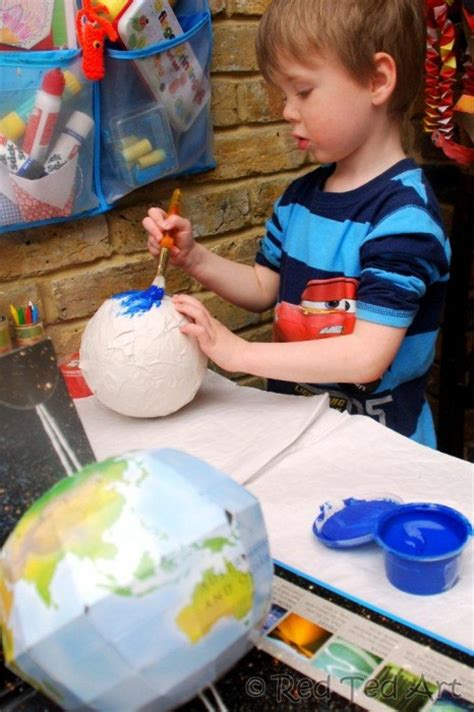 paper mache craft ideas crafts solar system ted s