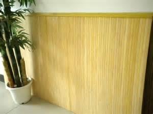 revetement mural bambou naturel