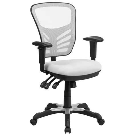 Mid Back Mesh Swivel Office Chair In White Hl 0001 Wh Gg White Swivel Office Chair