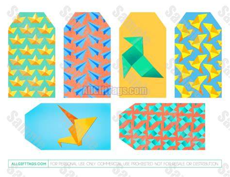 Origami Gift Tags - origami gift tag 28 images items similar to origami