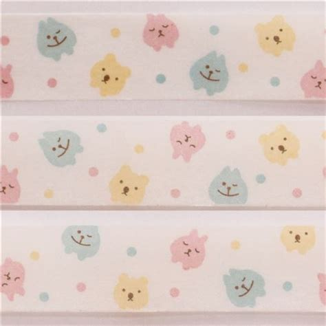 Bunny Set 2pcs strawberry cats bunny bears washi masking deco