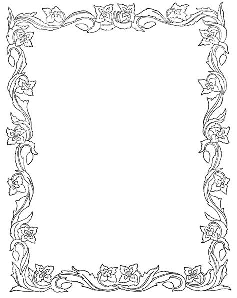 Photoshop Borders Templates Printable Spring Leaves Border Paper Spring Writing Paper Border Paper Template 2