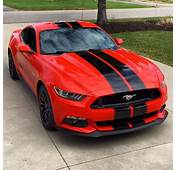 2015 Ford Mustang Shelby GT350 Style Black Racing Stripes