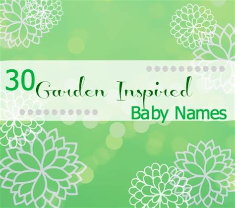 Garden Names by Garden Baby Names Disney Baby