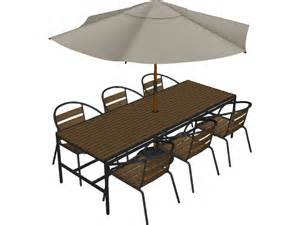 Outdoor Table And Chairs With Umbrella Outdoor Chairs Table And Umbrella 3d Model 3d Cad Browser