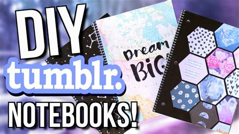tumblr rooms diy book covers diy tumblr notebooks for back to school 2017 youtube