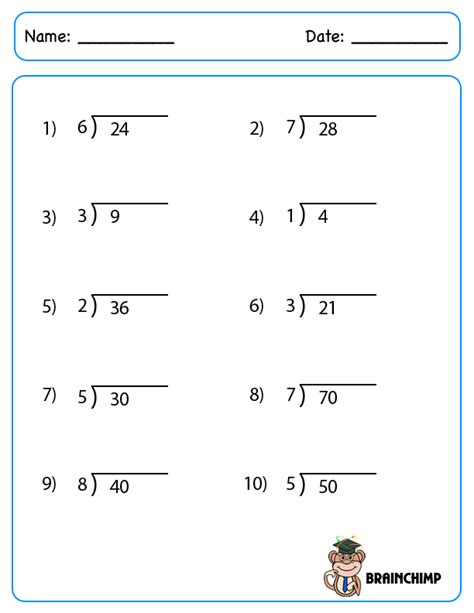 free printable long division worksheets without remainders division without remainders worksheets free worksheets