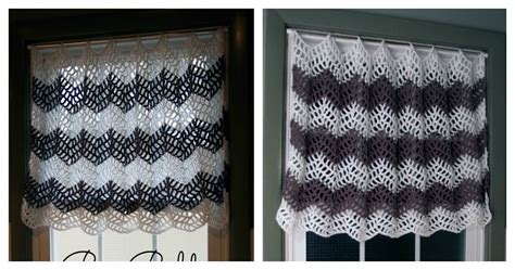 large pattern curtains big bold chevron curtain free crochet pattern for your windows