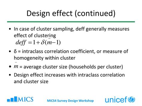 design effect cluster sling ppt multiple indicator cluster surveys survey design