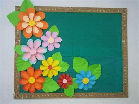 pin  sumbul shahid  softboard flower bulletin boards