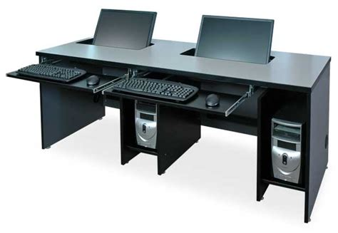 flat panel lcd widescreen computer desks classroom
