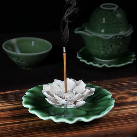 lotus incense holder aroma scent burner sculpture figurine