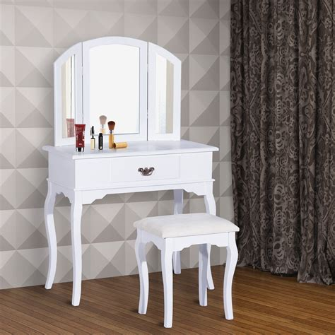 Coiffeuse A Maquillage by Homcom Coiffeuse Table De Maquillage Commode Coiffer Avec
