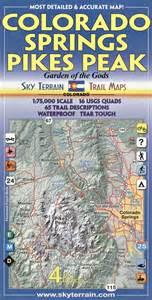 map of pikes peak colorado colorado springs pikes peak co topographic recreation
