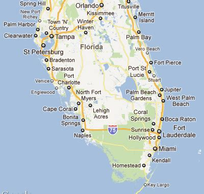 map southern florida the plane ia gt locations