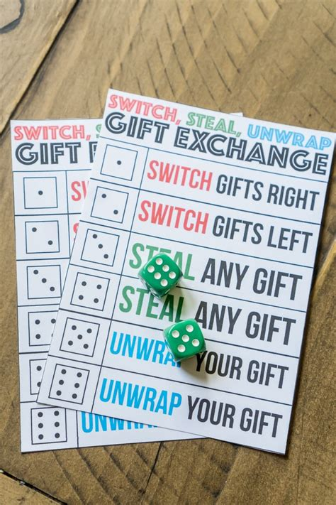 12 days of christmas gift swapping game the best gift exchange switch or unwrap