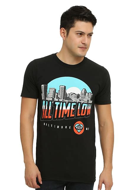 All Time Low Shirt all time low baltimore skyline t shirt topic