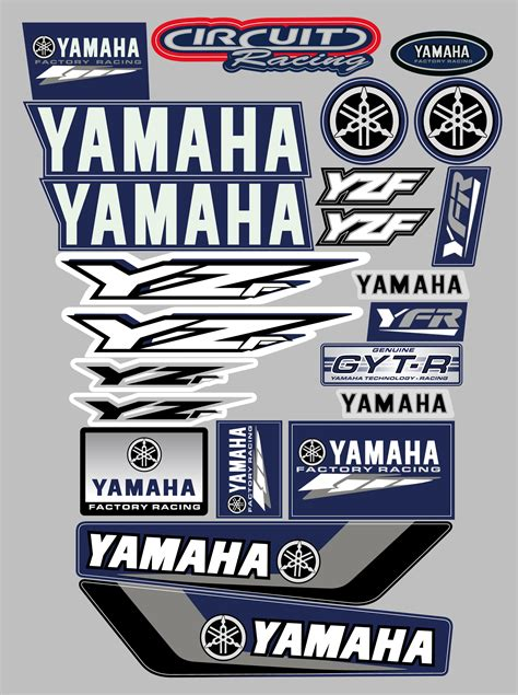 Yamaha 250 Sticker Kit by Yamaha Yzf Decal Sticker Kit