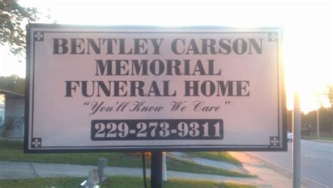 bentley carson memorial funeral home cordele ga