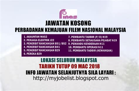 perbadanan film nasional malaysia jawatan kosong perbadanan kemajuan filem nasional malaysia