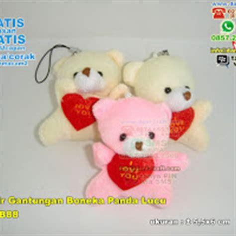 Gantungan Kunci Panda Berbulu Warna Abu gantungan kunci boneka lucu dan lembut kemasan souvenir pernikahan