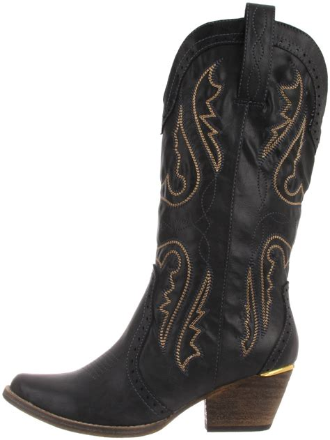 cheap womens black cowboy boots yu boots