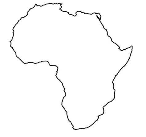 World Atlas Outline Map Of Africa by The World S Catalog Of Ideas