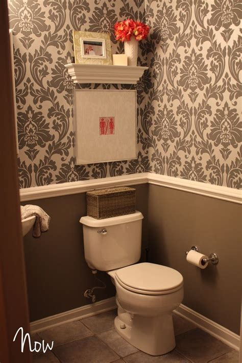 small bathroom wallpaper ideas bath idea put a part 2 powder room gets some jewelry bathrooms