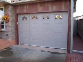 walk thru custom garage door garage door with door non warping patented honeycomb